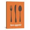 iCanvas Kitchen Bon Appetit Graphic Art on Canvas