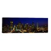 iCanvas Panoramic Buildings in a City Lit Up at Night, Dallas, Texas Photographic Print on Canvas