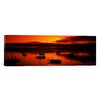 iCanvas Panoramic Boats in a Bay, Morro Bay, San Luis Obispo County, California Photographic Print on Canvas