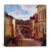 """iCanvas """"A Suburban Street, 1884"""" Canvas Wall Art by Paul Gauguin"""