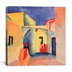 """iCanvas """"A Glance Down an Alley"""" by August Macke Painting Print on Canvas"""