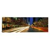 iCanvas Panoramic Blurred Motion, Cars, Michigan Avenue, Christmas Lights, Chicago, Illinois Photographic Print on Canvas