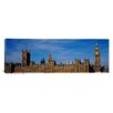 iCanvas Panoramic Blue Sky over a Buildin, Big Ben and the Houses of Parliament, London, England Photographic Print on Canvas