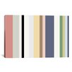 iCanvas Striped Baby Pastel Graphic Art on Canvas