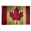 iCanvas Canadian Flag #2 Graphic Art on Canvas