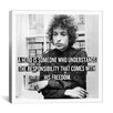 iCanvas Bob Dylan Quote Canvas Wall Art