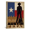 iCanvas 'Austin, Texas' by Anderson Design Group Vintage Advertisement on Canvas