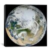 iCanvas Blue Marble - Arctic View Canvas Wall Art