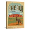iCanvas 'Ayers Rock, Australia' by Anderson Design Group Vintage Advertisement on Canvas