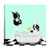 iCanvas 'Bath Tub BT' by Brian Rubenacker Graphic Art on Wrapped Canvas