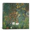 """iCanvas """"Bauerngarten mit Sonnenblumen (Flower Garden with Sunflowers)"""" Canvas Wall Art by Gustav Klimt"""