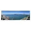 iCanvas Panoramic Buildings at the Waterfront, Golden Gate Bridge, San Francisco Bay, California Photographic Print on Canvas