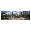 iCanvas Panoramic Basketball Court with Skyscrapers in Houston, Texas Photographic Print on Canvas