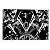 iCanvas Cars and Motorcycles Engine Front Grayscale Graphic Art on Canvas