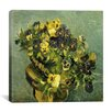 """iCanvas """"Basket of Pansies on a Small Round Table"""" Canvas Wall Art by Vincent van Gogh"""