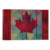 iCanvas Canadian Flag #4 Graphic Art on Canvas