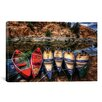 iCanvas 'Canoe Color' by Bob Larson Photographic Print on Canvas