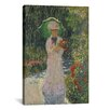 iCanvas 'Camille a L'ombrelle Verte 1876' by Claude Monet Painting Print on Canvas