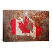 iCanvas 'Canada Flag Map' by Michael Tompsett Graphic Art on Canvas