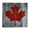 iCanvas Canadian Flag, Maple Leaf Graphic Art on Canvas
