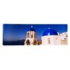 iCanvas Panoramic Church with Sea in the Background, Santorini, Cyclades Islands, Greece Photographic Print on Canvas
