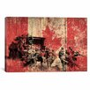 iCanvas Canadian Military Army Graphic Art on Canvas