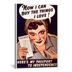 iCanvas Can't Buy Me Love Vintage Advertisement on Canvas
