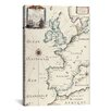 iCanvas Antique West Europe Map Graphic Art on Canvas