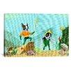 iCanvas 'Aqua Terrier Print' by Brian Rubenacker Graphic Art on Canvas
