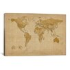 iCanvas 'Antique World Map II' by Michael Tompsett Graphic Art on Canvas