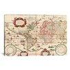 iCanvas Antique World Map (Blaeu, Willem Janszoon 1606) Graphic Art on Canvas