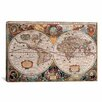 iCanvas 'Antique World Map' by Henricus Hondius Graphic Art on Canvas