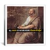 iCanvas Aristotle Quote Canvas Wall Art