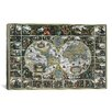 iCanvas 'Antique World Map II' by Interlitho Designs Graphic Art on Canvas