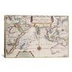 iCanvas Antique Map of Indian Ocean Graphic Art on Canvas
