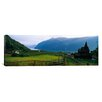 iCanvas Panoramic Church in a Village Urnes Stave Church, Lustrafjorden, Luster, Sogn Og Fjordane, Norway Photographic Print on Canvas