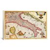 iCanvas Antique Maps of Italy Graphic Art on Canvas