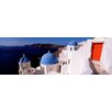 iCanvas Panoramic Church in a City, Santorini, Cyclades Islands, Greece Photographic Print on Canvas