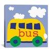 "iCanvas Erin Clark ""Yellow School Bus"" Canvas Wall Art"