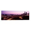 iCanvas Panoramic City Lit Up at Dusk, Seattle, King County, Washington State, 2010 Photographic Print on Canvas