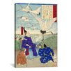 iCanvas Yoritomo Releasing Cranes on The Seashore Japanese Woodblock Graphic Art on Canvas