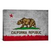 iCanvas California Flag, Grunge Painted Graphic Art on Canvas