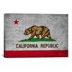 iCanvas California Flag, Grunge Graphic Art on Canvas