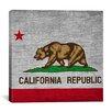 iCanvas California Flag, Square Grunge Graphic Art on Canvas