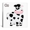 iCanvas Kids Art C is for Cow Canvas Wall Art