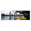 iCanvas Panoramic Yellow Kayak in a reservoir, Lady Bird Lake, Colorado River, Austin, Texas Photographic Print on Canvas