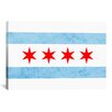 iCanvas Chicago Flag, Small Grunge Graphic Art on Canvas