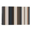 iCanvas Striped Charcoal Khaki Brown Graphic Art on Canvas