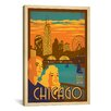 iCanvas 'Chicago, Illinois' by Anderson Design Group Vintage Advertisement on Canvas