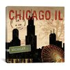 iCanvas Chicago Skyline II from Sparx Studio Canvas Wall Art